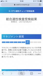 MIIDAS(ミイダス)適性検査結果