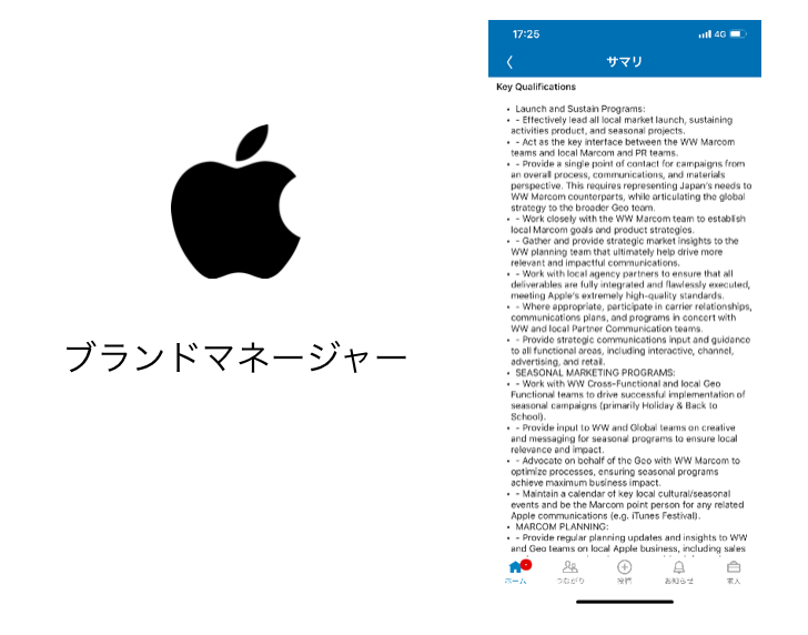 Appleのブランドマネージャーの求人