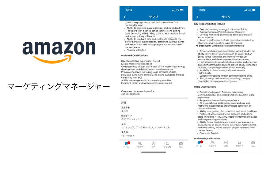 Amazonのマーケティングマネージャーの求人